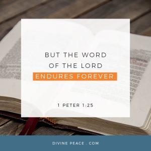 1 PETER 1:25 BIBLE VERSE GRAPHIC