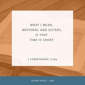 1 Corinthians 7.29