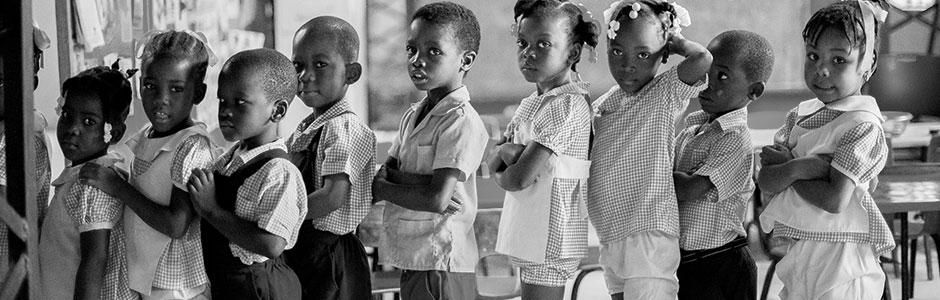 Line of children